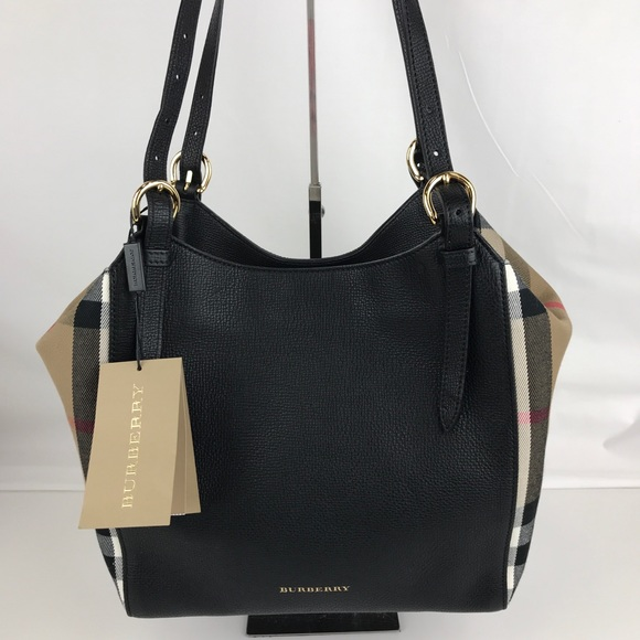 c1467f6b3652 Burberry Small Canter House Check Leather Tote